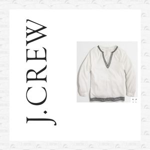 J Crew embroidery top
